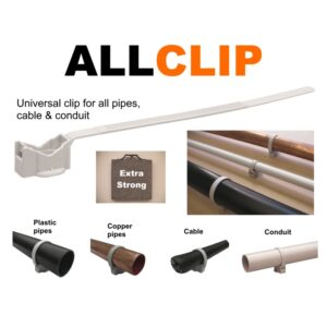 AllClip universal clip for pipes, cable & conduit